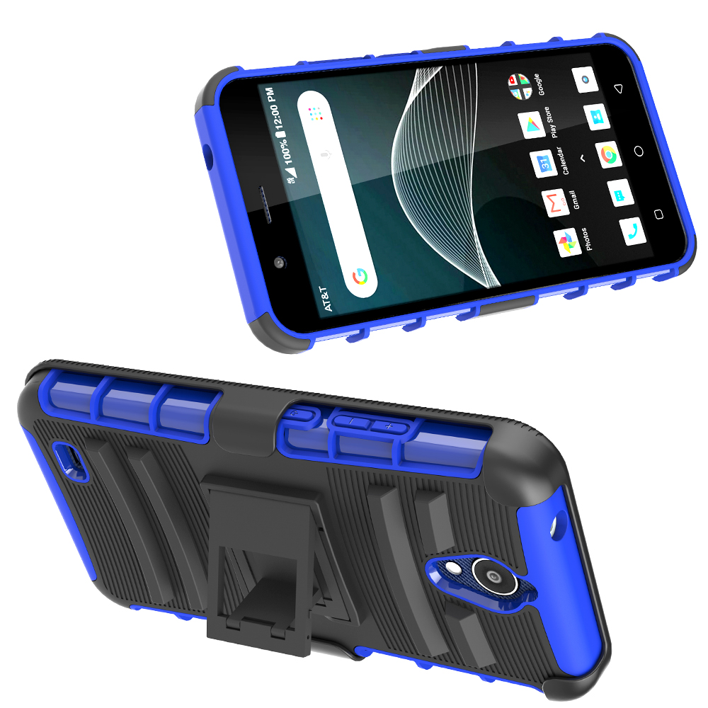 Cricket Wireless 3 In 1 Kickstand Cover Case For Alcatel At&t Axia Qs5509a  Holster Case - Buy For Alcatel Qs5509a Holster Case,Kickstand Cover For