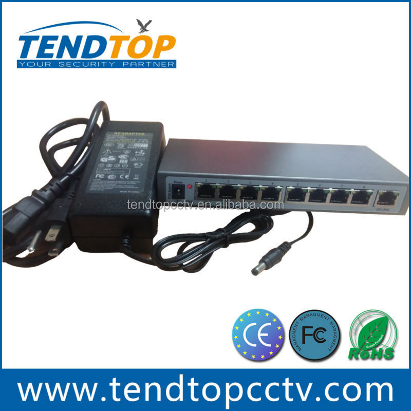 8 channel POE Router Ethernet Switch 100Mbps