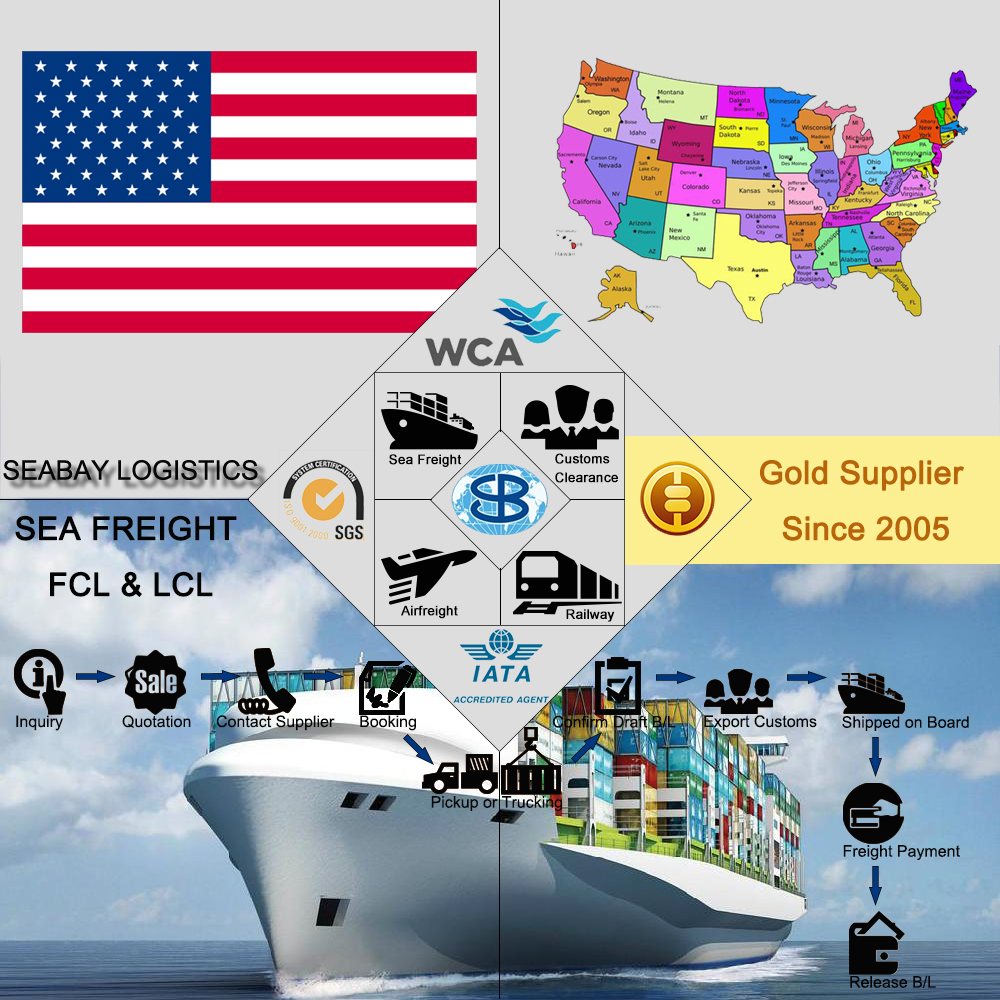 High Competitive from China to USA US United States Shipping Rates (Guangzhou Shenzhen Shanghai Ningbo Qingdao...)