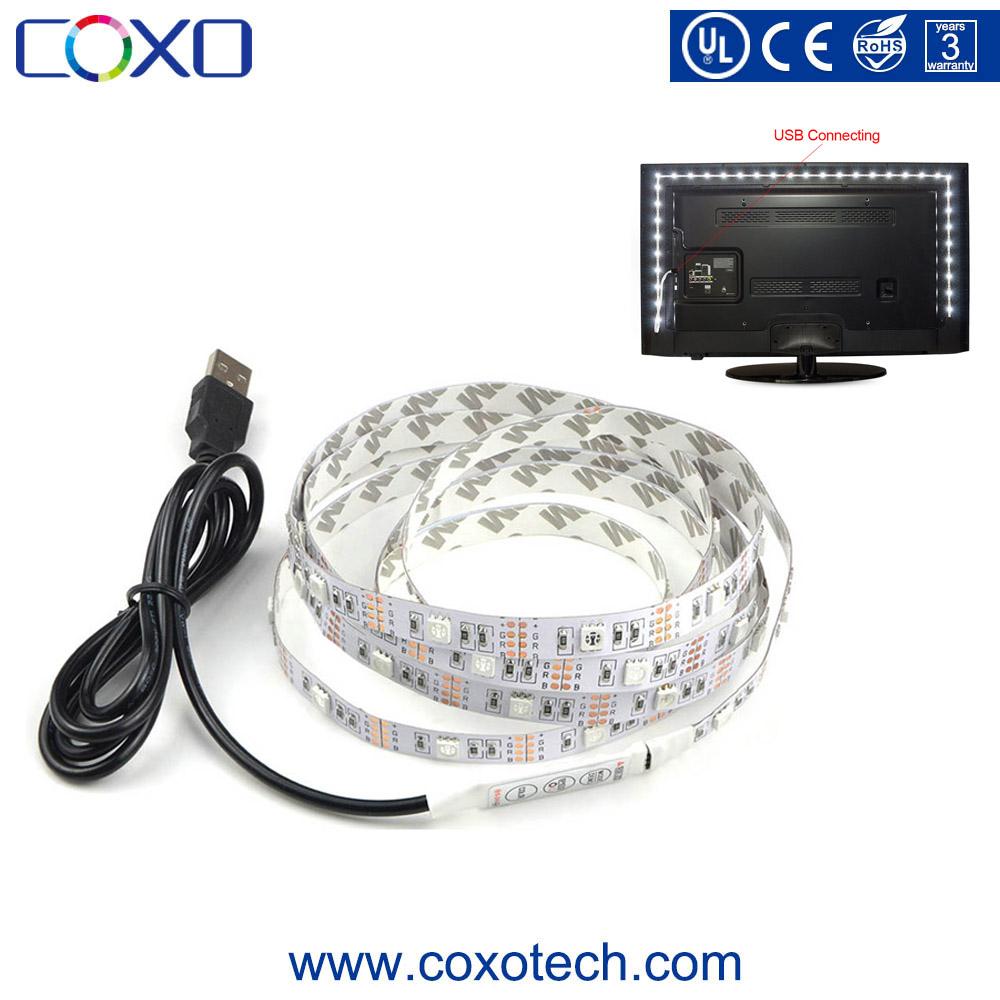 SMD 5050 DC 5V USB Power Supply RGB LED Strip Light for TV Background Lighting