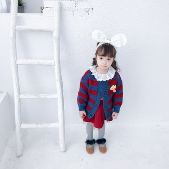 S63698B Baby Girl Winter autumn Sweaters Cardigans Newborn Boys Knit Jackets 2018 Autumn Hooded Long Sleeves cardigan