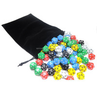 100 Assorted Dice 10 Colors Polyhedral Dice with DLS Storage Bag
