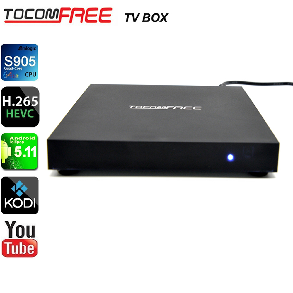 Tocomfree Amlogic S905 Quad Core Android 5.1.1 Smart Tv <strong>Box</strong> 1G 8G Kodi 16.1Pre-installled KODI/XBMC Streaming <strong>Media</strong> Player