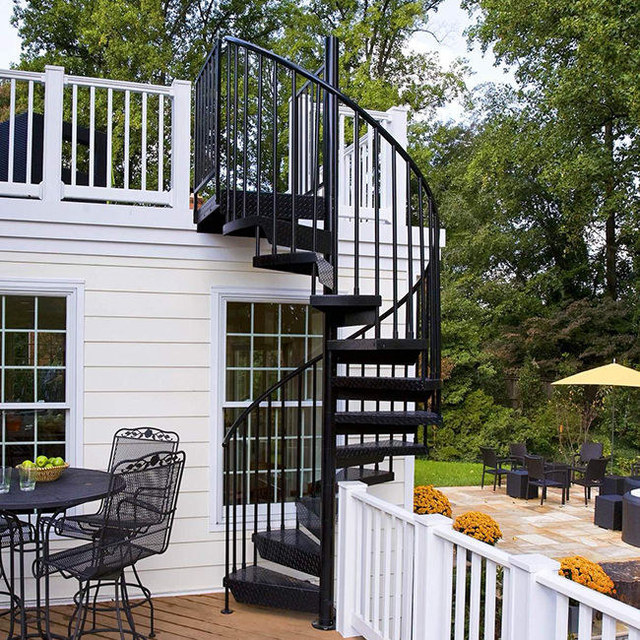Steel Circular Staircase Outdoor Metal Stair Kits Metal Spiral Stairs For  Sale