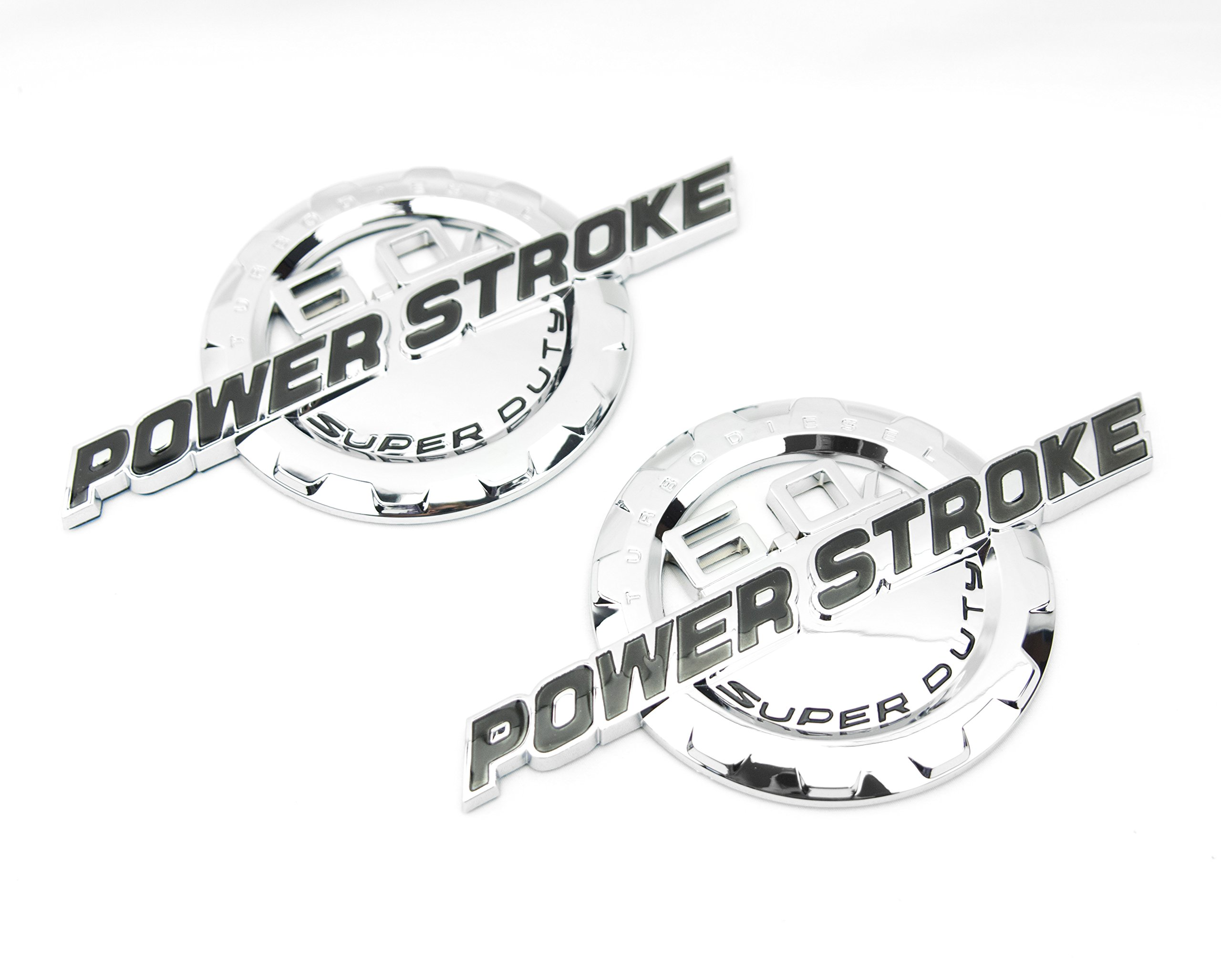 1999-2001 POWER STROKE DIESEL V8 EMBLEMS PAIR FOR SUPERDUTY SUPER DUTY 1PIECE