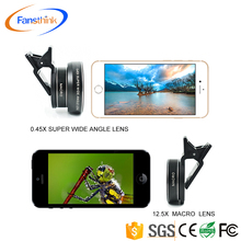 Manufacture 0.45X Wide Angle Smartphone Lens 20X Macro Mobile Phone Accessories Zoom Lense For Phone Camera