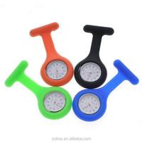 2015 High Quality Brand New Silicone Nurse Watch Brooch Fob Watches Medical Nurse Watch