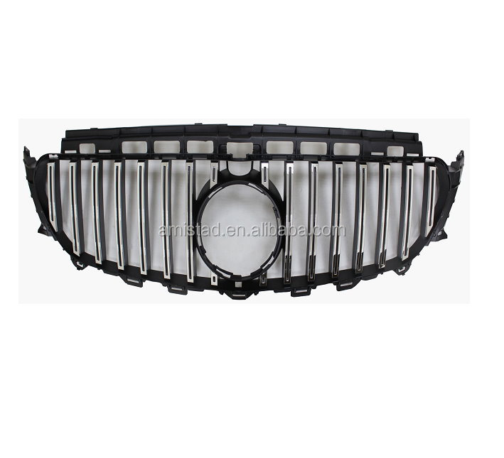 AUTO CAR PARTS FRON BUMPER GRILLE 2016-2017 FOR BENZ E-CLASS W213 GT-R STYLE RADIATOR GRILLE