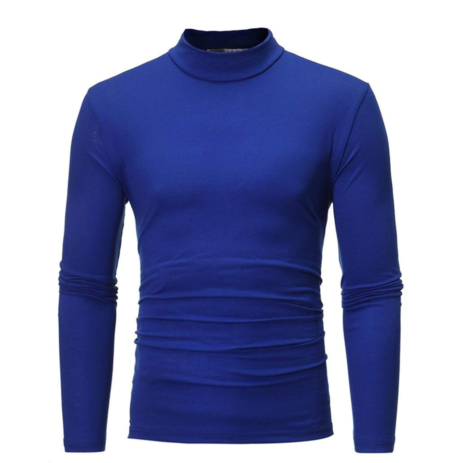 OWMEOT Mens Knitted Slim Fit Pullover Sweater Shawl Collar