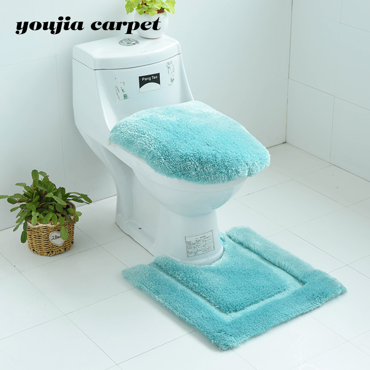 2019 Toilet Seat Cover And Bathroom Mat Set Carpets Hand Tufted