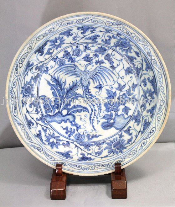 Blue And White China Pattern Of The Chinese Phoenix Platter Curio Product On Alibaba