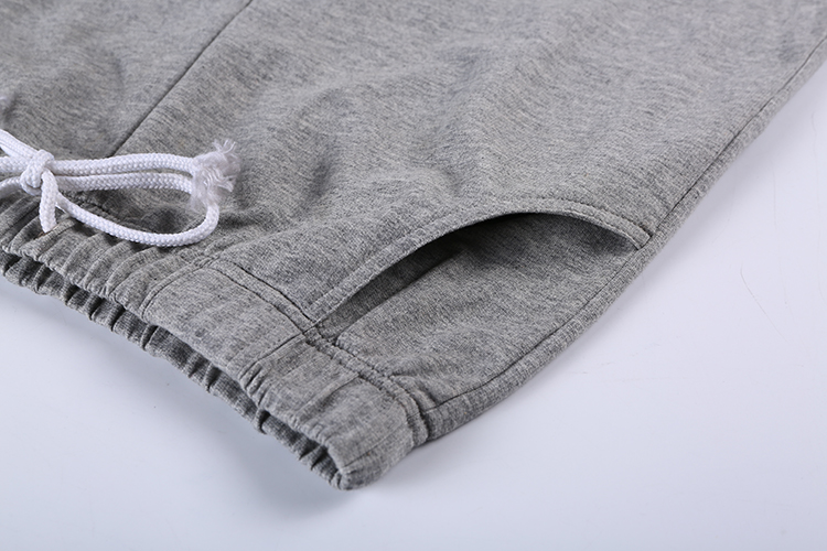 New Fashion Solid Cotton Grey Knitted Casual Sports Hommes Trousers Track Men Gym Jogger Sweatpants Pants