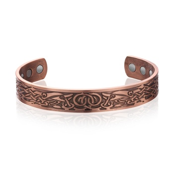 Loftily Jewelry Wholesale Custom Copper Magnetic Medical Therapy Bangle Bracelet