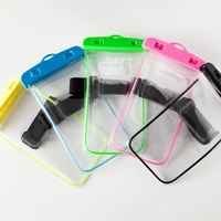 Factory Full Sealed waterproof Luminous dry Bag case universal clear PVC swimming mobile phone bag for promotion gift