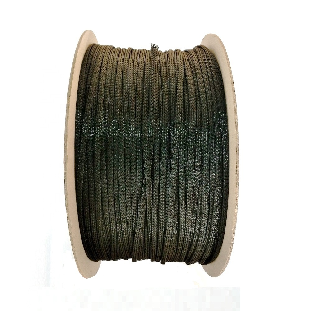 Dia.3mm~76mm PET Material Cable Protection High Density Braided Sleeve