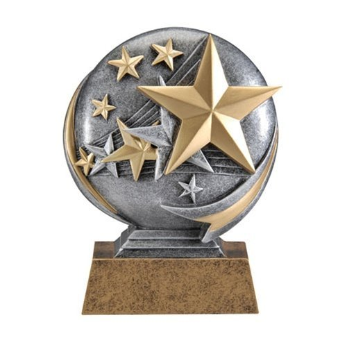Stars Motion 3D Resin Trophy - Sales Achievement Award - Customize Now - Personalized Engraved Plate Included and Attached to Award - Perfect Sales Achievement Award Trophy - Decade Awards