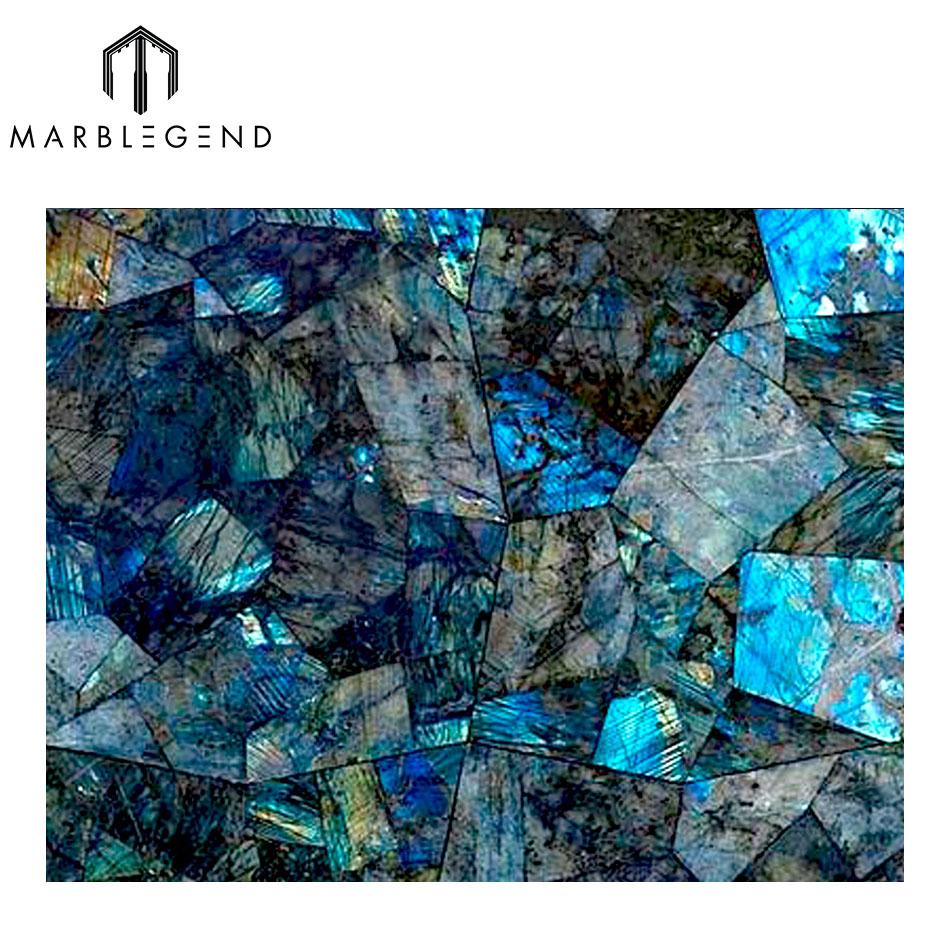 100% натуральный камень синий Лабрадорит раковина genstome бассейна