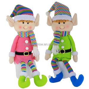 Pretty Cute Christmas Plush Elf Doll Soft Toy 2018 New Fashion Custom Stuffed Rag Plush Elf Toy