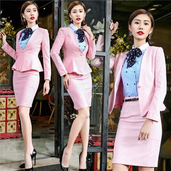 New Hot Women Work Wear Jacket Formal Lady Casual Business Office Skirt Suit