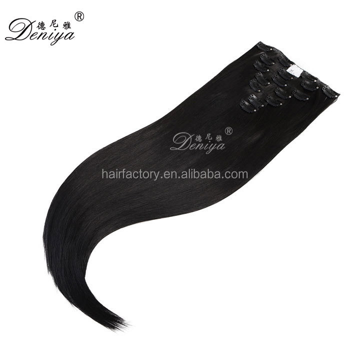 Wholesale Price Top Quality 100% Remy Human Hair Easy Clip In Hair Extensions