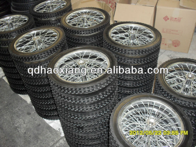 "wear resistant semi pneumatic rubber wheel 18""*1.75"" with the reasonable price"
