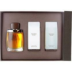 VERA WANG by Vera Wang Cologne Gift Set for Men (EDT SPRAY 3.4 OZ & AFTERSHAVE BALM 3.4 OZ & HAIR AN