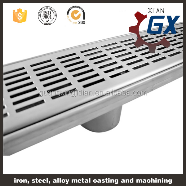 China Manufacturers supply long stainless steel types of floor drain shower drain