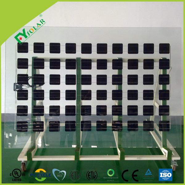 transparent glass solar panel BIPV for window