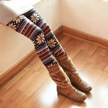 Knitted Colorful Crystal Pattern Sexy Leggings for Women Tights Pants Women Leggings Girls Pics Always Leggings