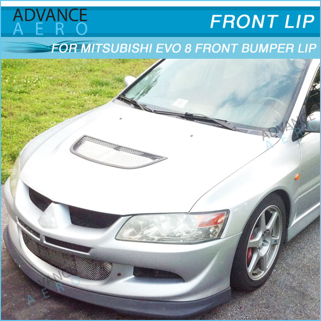 Carbon DAMD Extension Spat Fit For 01-05 Mitsubishi EVO 7 8 JDM Rear Bumper