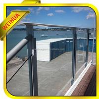 u channel glass balustrade, laminated glass railing, glass balcony