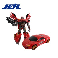 JDL 459039 2019 High quality Deformation Car Transform Robot Car Toy with Light & Sound