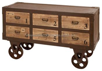 Vintage Industriële Franse Meubelsantieke Look Kast Op Wiel Winkelwagen Buy Franse Meubelsantieke Look Kastwoonkamer Kasten Product On