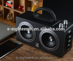 2017 new hot high quality big power 20W CSR4.0 super mega bass speaker portable wood BT speaker