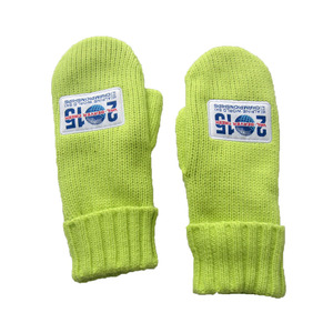 JS Solid Color Warm Knit Mitten for Girls