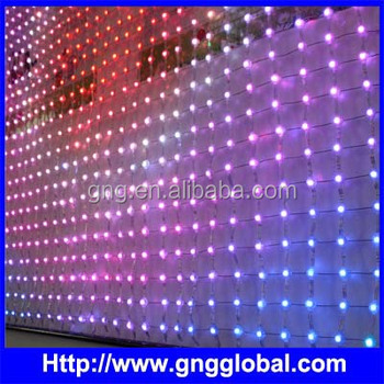1 6x1 6m led fabric backed light screen flexible led mesh curtain