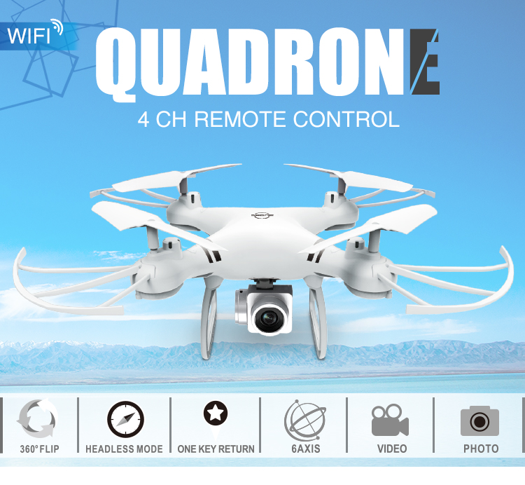HUADA 2019 480P FPV Air Quadcopter Remote Control Aircraft Sensor 2.4G Long Distance RC Drone with HD Camera