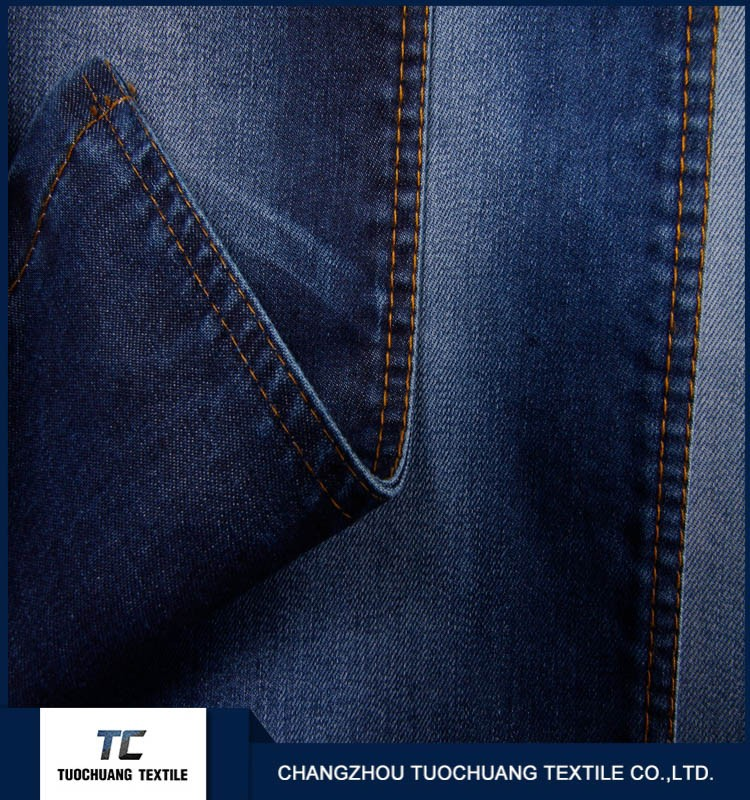 TC 00015 dark blue denim jeans fabric for Men comfurtable and fashinable design denim jeans fabric in changzhou