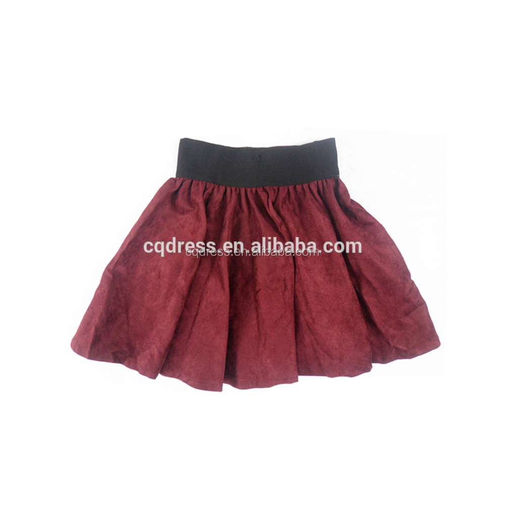 wholesale render dress plaid elastic band girl mini pleated skirts