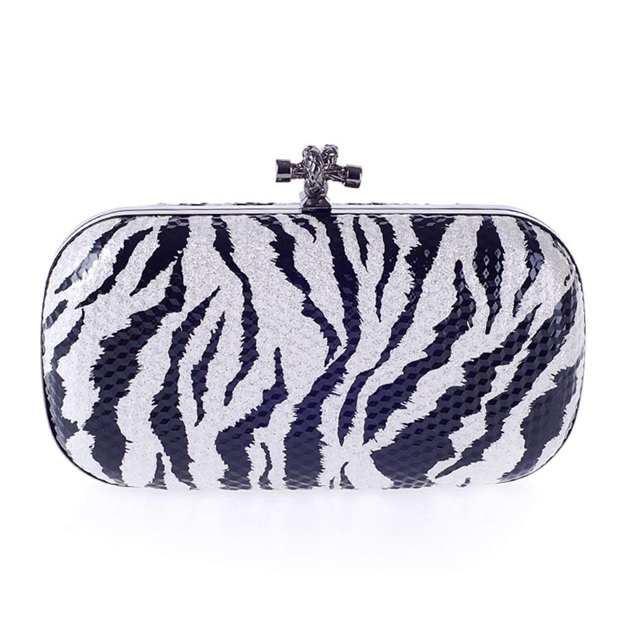 Fit & Wit Womens Abstract Pattern Evening Cocktail Wedding Party Handbag Clutch Purse Shoulder Bag