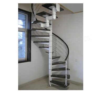 External Used Metal Spiral Staircase With Glass Tread And Stainless  Railing/hot Galvanized Outdoor Spiral