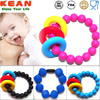 FDA approved Fashion Colorful Baby Chewing silicone bangle bracelet