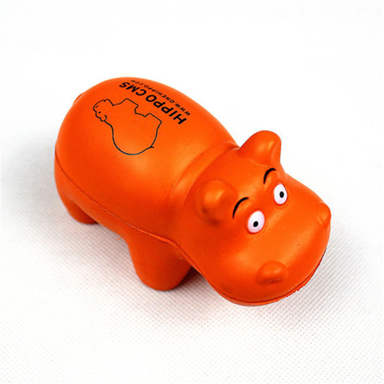 Lucky Craft PU foam 10.2X5.3X6.8cm soft relieve toys hippo stress ball
