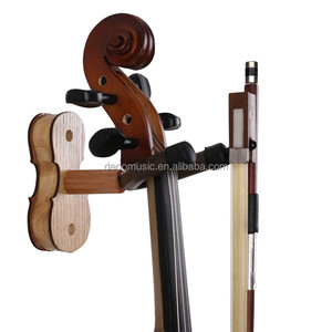 Home wall mount violin hanger with bow hanger