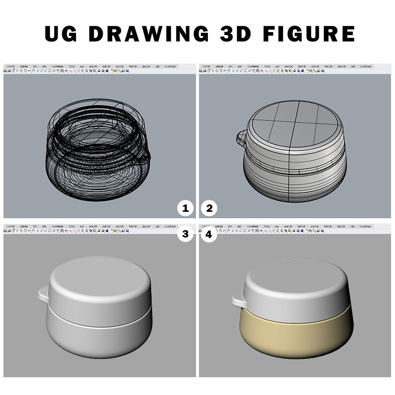 Silicone travel bottles ug drawing 3D figure