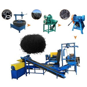 Car truck crushed waste tires recycling equipment powder machine production line