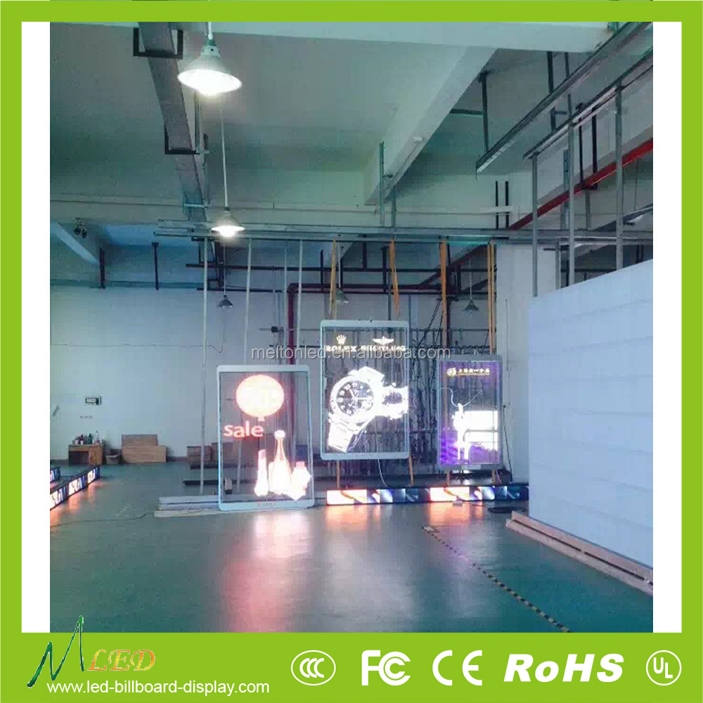 P15.625mm transparent glass video led display price
