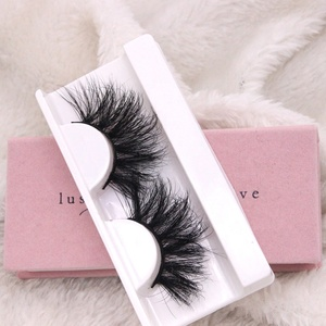 Create Your OWN Brand Siberian Mink Fur Strip Eyelash 3D Private Label Mink Eyelashes OEM Lashes