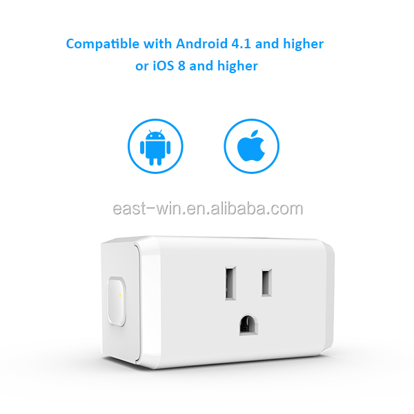 OEM design wifi smart plug app cotrol wifi power plug, high quality smart wifi plug mini