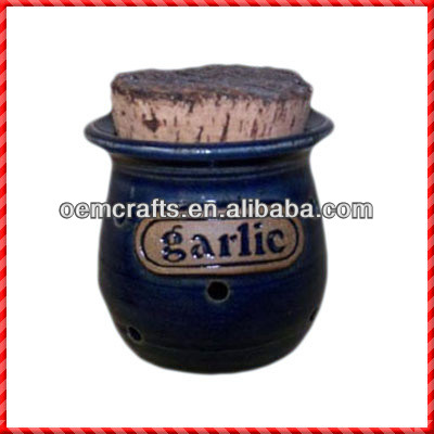 Exquisite handmade terracotta garlic storage containers with lid